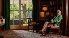 Mario Vargas Llosa in seinem Arbeitszimmer in Madrid