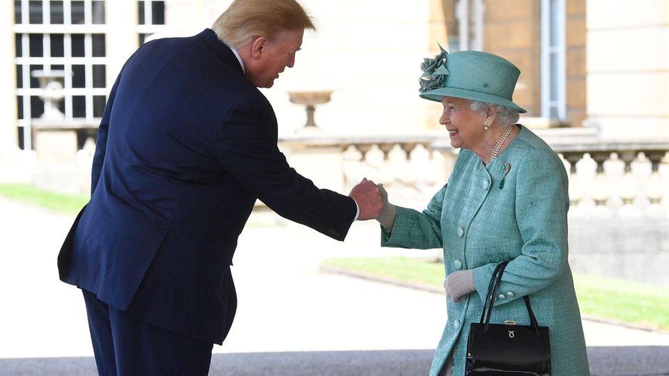 Queen Elizabeth II. und Donald Trump