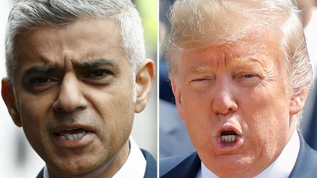 Londons Bürgermeister Sadiq Khan (links) und US-Präsident Donald Trump