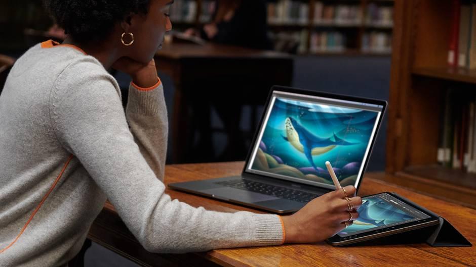 Das iPad kann nun als Zweit-Display für den Mac eingesetzt werden.