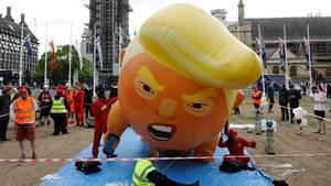 Ein aufblasbarer Trump soll in London den US-Präsidenten verhöhnen