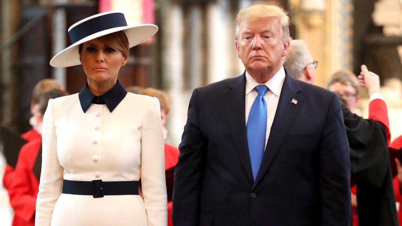 Donald und Melania Trump bei ihrem Besuch in der Westminster Abbey