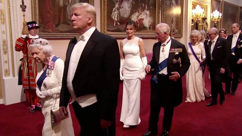 Royal Familiy: Die Trumps zu Besuch im Buckingham-Palast: Unkommentierte Szenen des Staatsbanketts