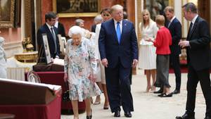 Wie die Trumps ihren Besuch im Buckingham-Palast im Netz abfeiern
