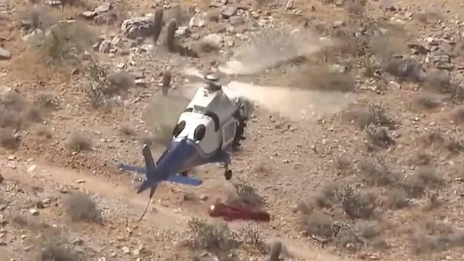 Rettungseinsatz in Arizona: 74-Jährige soll mit Trage an Hubschrauber gerettet werden – und dann passiert das ...