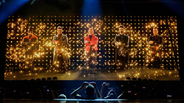 Backstreet Boys bei ihrem Konzert
