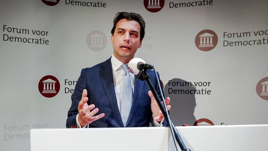 Thierry Baudet, niederländischer Rechtspopulist vom Forum voor Democratie