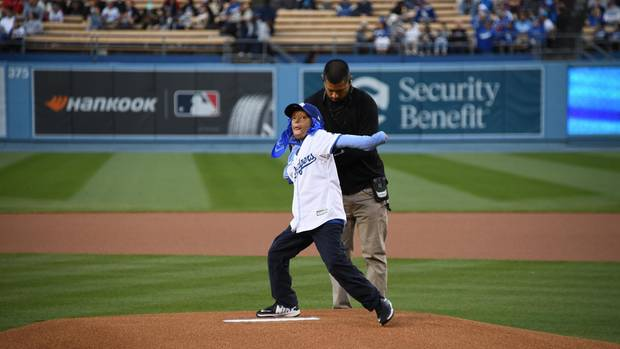 First Pitch Los Angeles Dodgers