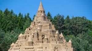 Größte Sandburg in Binz