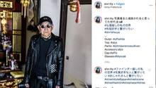 Opa in schwarzer Lederjacke auf Instagram