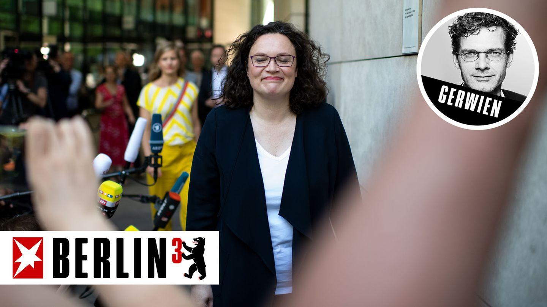 Die frühere SPD-Chefin Andrea Nahles verlässt das Willy-Brandt-Haus