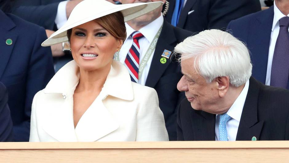Sieben Outfits in drei Tagen: Dieses Zeichen setzt Melania Trump mit ihrer Modeauswahl in Großbritannien