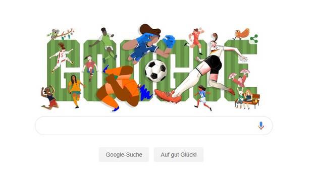 Google Doodle zum Start der Fußball-WM der Frauen 2019