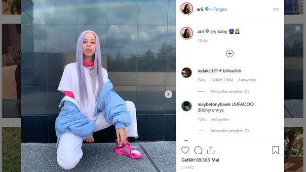 Arii hat auf Instagram 2,6 Millionen Follower. Mode verkaufen konnte sie aber deswegen nicht.