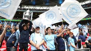 Manchester City Fans im Stadion
