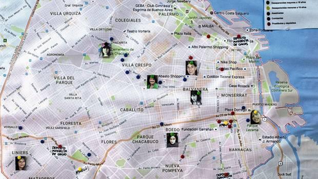 Ein Stadtplan zeigt, wo Mädchen verschwanden