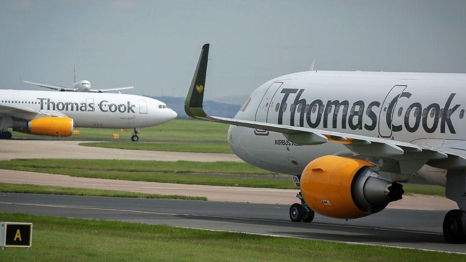 Jets von Thomas Cook Airlines am Manchester Airport
