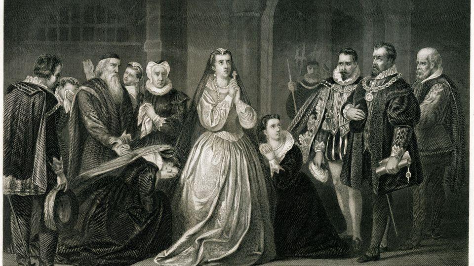 Maria Stuart vor ihrer Exekution