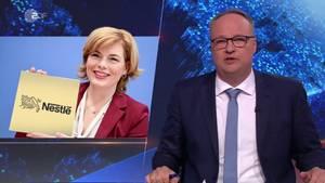 Oliver Welke spottet über das Nestlé-Video von Julia Klöckner