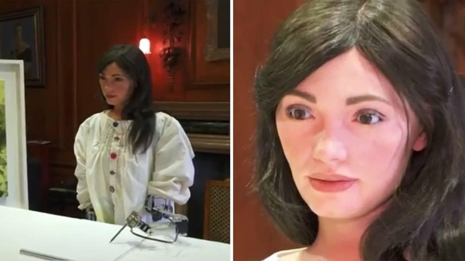Unheimlich oder genial?: Roboterfrau: Künstliche Künstlerin Ai-da eröffnet eigene Ausstellung