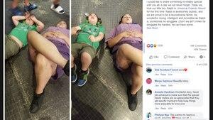 Die Mutter des kleinen Ralph postete das Bild der Mitarbeiterin und ihres Sohnes auf Facebook