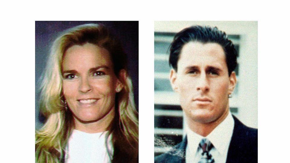 Diese undatierte Foto-Kombo zeigt Nicole Brown Simpson und Ron Goldman
