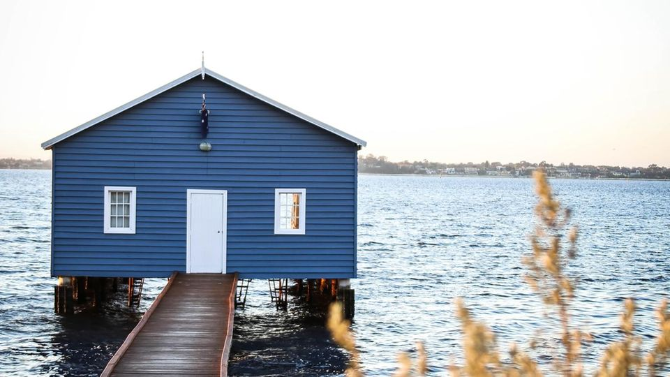 """Blue Boat House"" in Perth"
