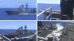 Beinahe Zusammenstoß eines russichen und eines US-Zerstörers