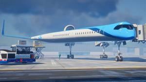 """Die """"Flying V"""" nutzt die bestehende Infrastuktur der Flughäfen."""