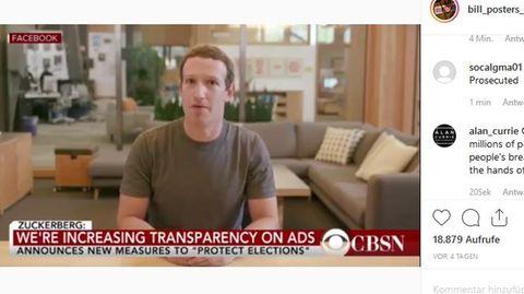 Instagram Mark Zuckerberg Facebook Deep Fake
