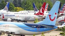 Nicht ausgelieferte Boeing 737 MAX auf dem King County International Airport in Seattle