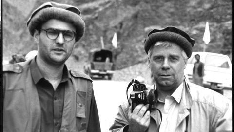 Gabriel Grünerund Volker Krämer (r.) in Afghanistan 1992