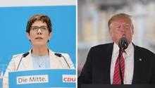 Annegret Kramp-Karrenbauer und Donald Trump