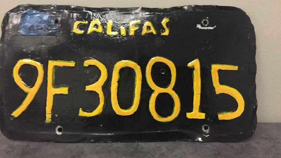 Das von der Polizei sichergestellte Nummernschild