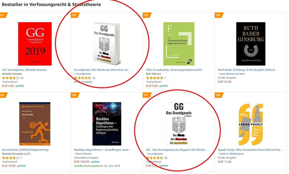 "Die Amazon-Bestseller in der Kategorie ""Verfassungsrecht & Staatstheorie"""