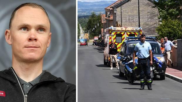 Chris Froome stürzte schwer - er liegt in St. Etienne auf der Intensivstation