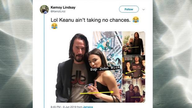 Keanu Reeves mit Fan