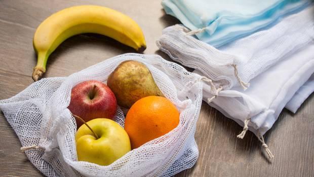 Obstnetz statt Plastiktüte