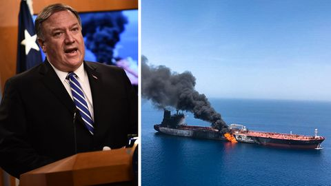 """US-Außenminister Mike Pompeo, Tankschiff """"Front Altair"""""""
