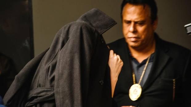 Auf dem Weg zur Aussage: Trindade Mendes de Souza vor wenigen Tagen in Sao Paulo.