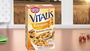 Vitalis Knuspermüsli Schoko + Keks von Dr. Oetker