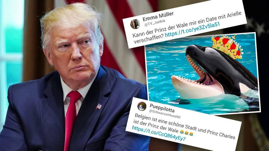 "Trump nennt Prinz Charles ""Prince of Whales"""