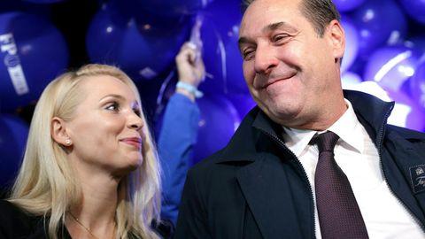 Philippa Strache und ihr Ehemann Heinz-Christian
