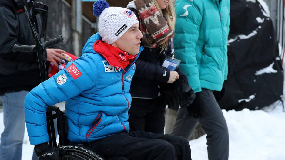 Lukas Müller 2017 bei der Vierschanzentournee in Bischohfshofen