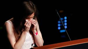 Amanda Knox bei einem Kongress in Italien