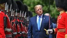 Donald Trump Anfang Juni bei seinem Staatsbesuch in London