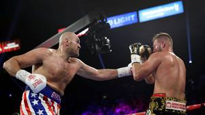 Tyson Fury boxt gegen Tom Schwarz