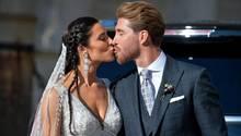 Sergio Ramos küsst Ehefrau Pilar Rubio