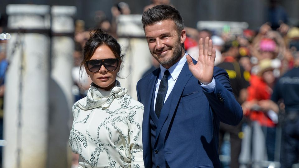 David Beckham and seine Frau Victoria