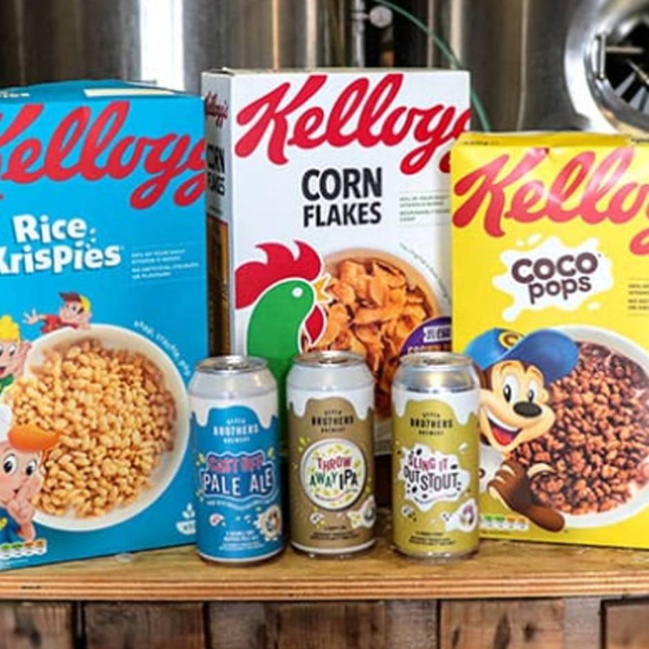 Perfekt fürs Frühschoppen: Kellogg's verkauft Bier aus recycelten Cerealien